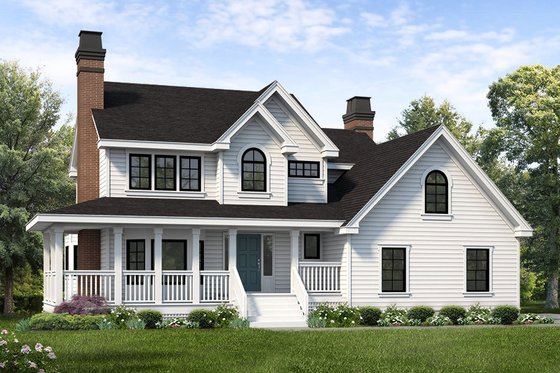 Country Exterior - Front Elevation Plan #47-943