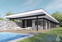 Modern Exterior - Covered Porch Plan #552-7