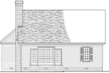 Southern Exterior - Rear Elevation Plan #137-121