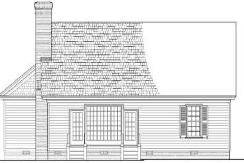 Southern Exterior - Rear Elevation Plan #137-121 - Houseplans.com
