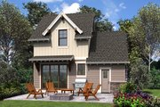 Cottage Style House Plan - 2 Beds 1.5 Baths 803 Sq/Ft Plan #48-1010 Exterior - Rear Elevation