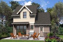 Cottage Exterior - Rear Elevation Plan #48-1010