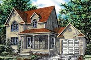 Traditional Style House Plan - 3 Beds 1.5 Baths 1376 Sq/Ft Plan #138-211 Exterior - Front Elevation