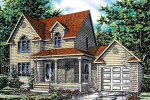 Traditional Exterior - Front Elevation Plan #138-211