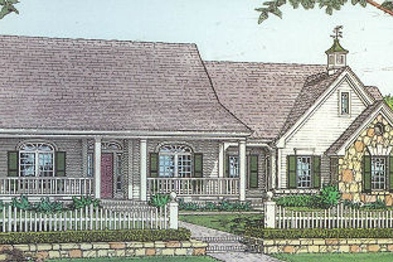 Traditional Style House Plan - 3 Beds 2.5 Baths 2144 Sq/Ft Plan #310-612 Exterior - Front Elevation