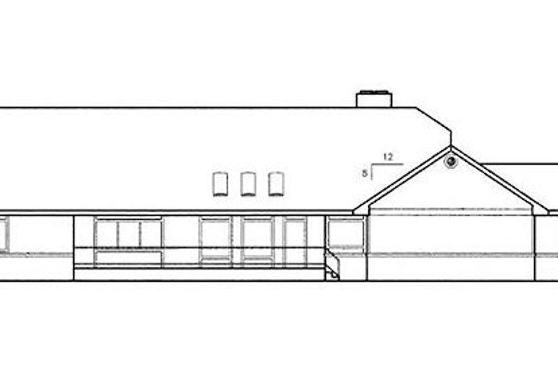 Country Exterior - Rear Elevation Plan #60-165 - Houseplans.com