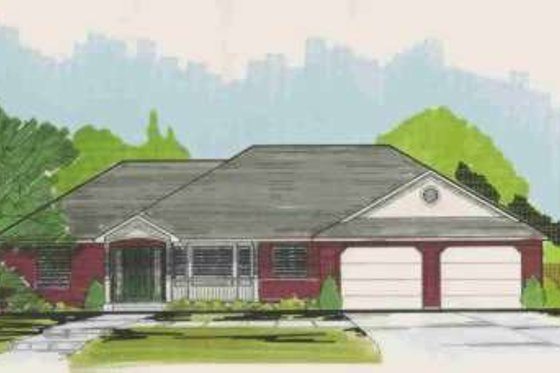 Traditional Exterior - Front Elevation Plan #308-119