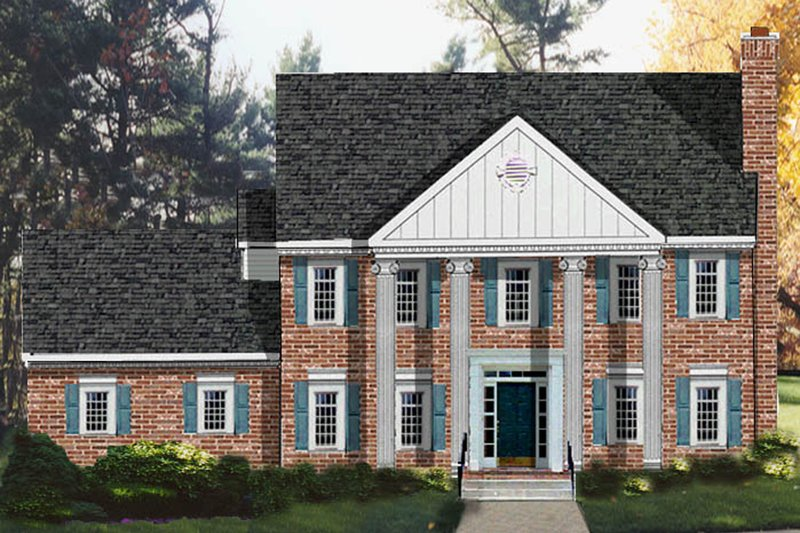 Dream House Plan - Classical Exterior - Front Elevation Plan #3-185