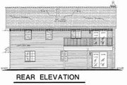 Traditional Style House Plan - 4 Beds 2 Baths 1440 Sq/Ft Plan #18-9231 Exterior - Rear Elevation