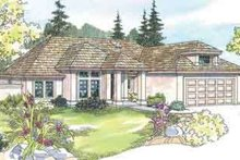 Mediterranean Exterior - Front Elevation Plan #124-436