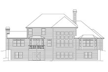 Home Plan Design - Country Exterior - Rear Elevation Plan #57-337