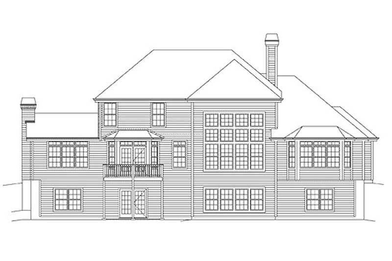 Country Exterior - Rear Elevation Plan #57-337 - Houseplans.com