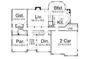 European Style House Plan - 5 Beds 4 Baths 3254 Sq/Ft Plan #119-263 Floor Plan - Main Floor