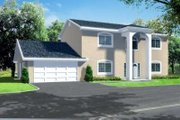 Adobe / Southwestern Style House Plan - 4 Beds 3 Baths 2558 Sq/Ft Plan #1-609 Exterior - Front Elevation