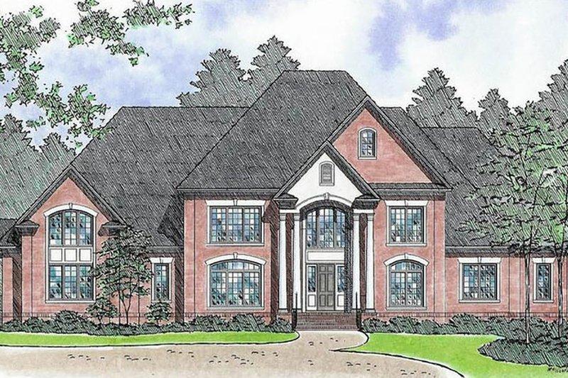 House Plan Design - European Exterior - Front Elevation Plan #1054-92