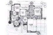 European Style House Plan - 4 Beds 3.5 Baths 3258 Sq/Ft Plan #310-935 Floor Plan - Main Floor