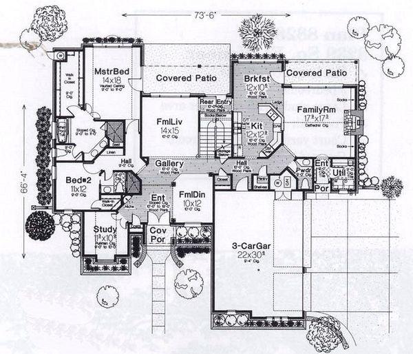 European Floor Plan - Main Floor Plan #310-935
