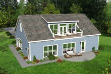 Dream House Plan - Country Exterior - Rear Elevation Plan #932-184