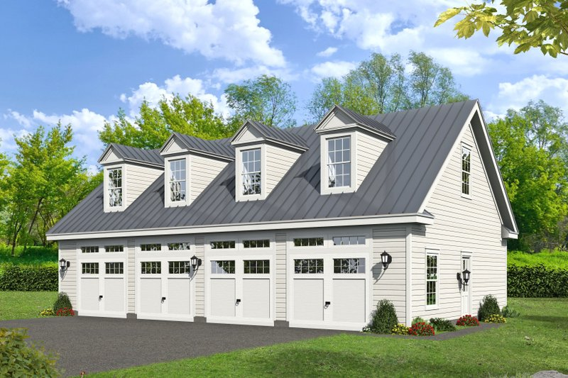 Country Exterior - Front Elevation Plan #932-266