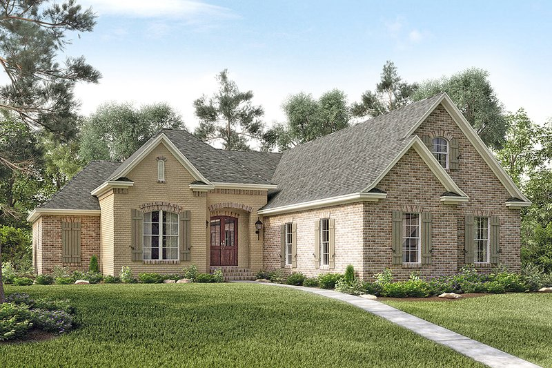 Dream House Plan - European Exterior - Front Elevation Plan #430-119