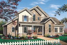 House Plan Design - European Exterior - Front Elevation Plan #23-232