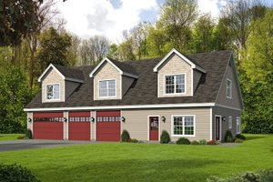Dream House Plan - Country Exterior - Front Elevation Plan #932-248