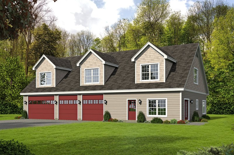 Country Exterior - Front Elevation Plan #932-248
