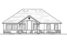 Home Plan - Traditional Exterior - Rear Elevation Plan #5-113
