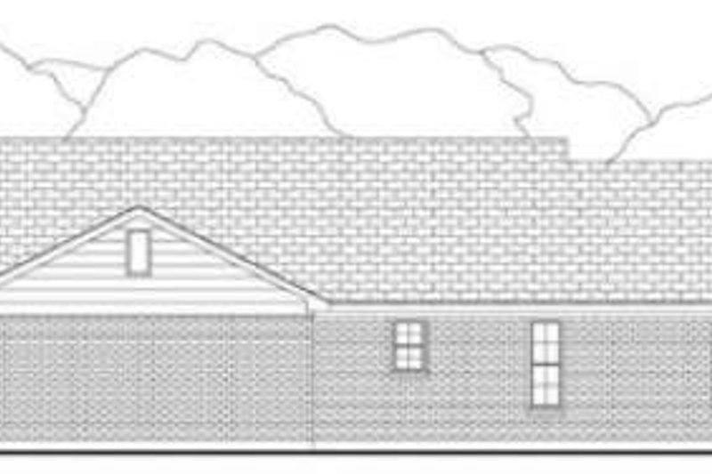 Country Exterior - Rear Elevation Plan #406-148 - Houseplans.com