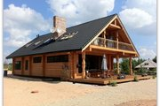 Log Style House Plan - 4 Beds 3 Baths 4206 Sq/Ft Plan #549-6