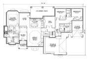 Traditional Style House Plan - 3 Beds 3 Baths 2997 Sq/Ft Plan #5-329 Floor Plan - Main Floor Plan
