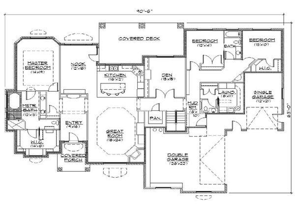 Traditional Floor Plan - Main Floor Plan Plan #5-329