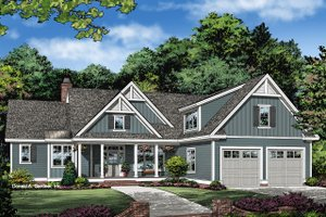 Ranch Exterior - Front Elevation Plan #929-1085