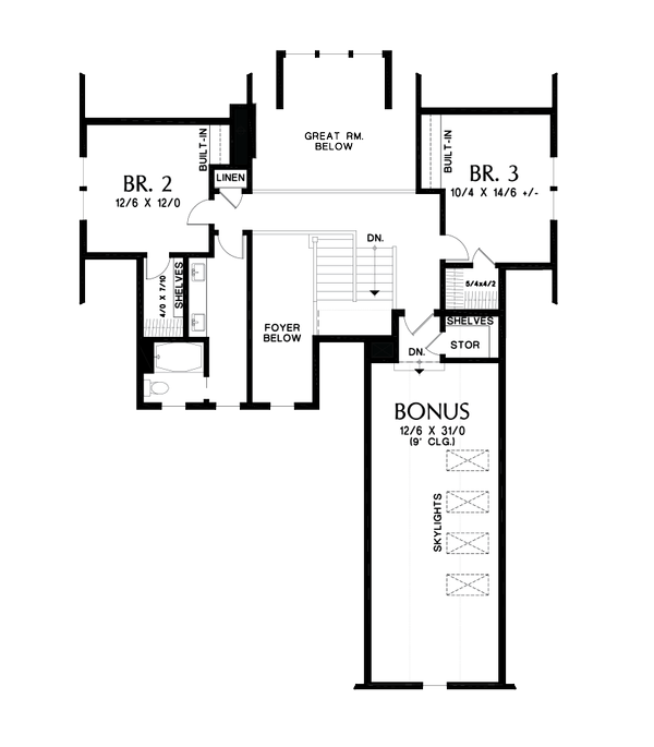 Dream House Plan - Contemporary Floor Plan - Upper Floor Plan #48-993