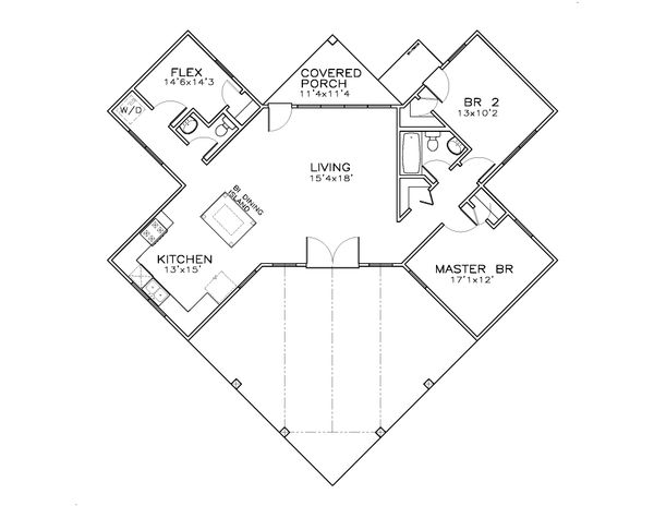 Craftsman Floor Plan - Main Floor Plan Plan #8-301