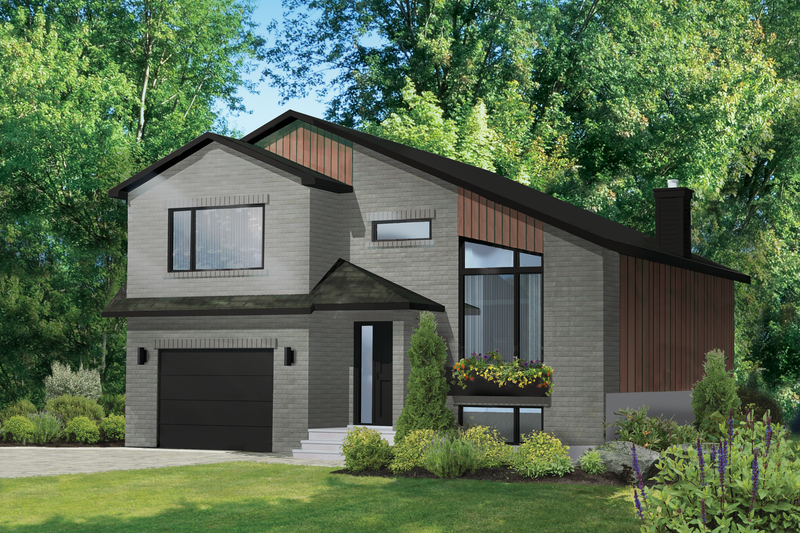 Dream House Plan - Contemporary Exterior - Front Elevation Plan #25-4893