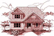 Cottage Exterior - Front Elevation Plan #79-230