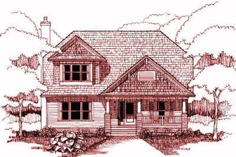 Cottage Exterior - Front Elevation Plan #79-230
