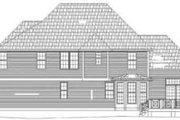 European Style House Plan - 4 Beds 2.5 Baths 2491 Sq/Ft Plan #119-114 Exterior - Rear Elevation
