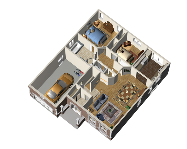 Traditional Floor Plan - Main Floor Plan #25-4362