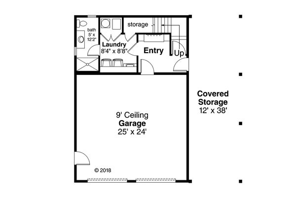 Craftsman Floor Plan - Main Floor Plan Plan #124-1133