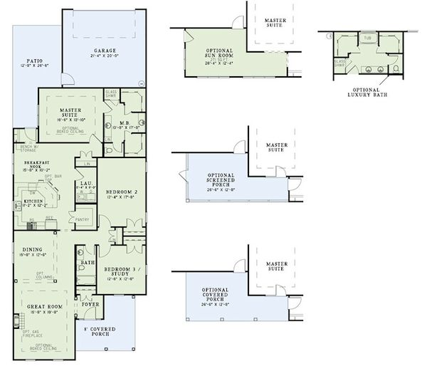 Traditional Floor Plan - Main Floor Plan Plan #17-2421