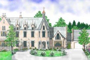 Home Plan - European Exterior - Front Elevation Plan #52-130