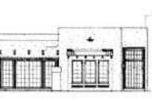 House Blueprint - Adobe / Southwestern Exterior - Rear Elevation Plan #72-167