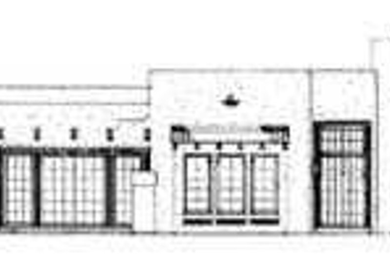 Adobe / Southwestern Exterior - Rear Elevation Plan #72-167 - Houseplans.com