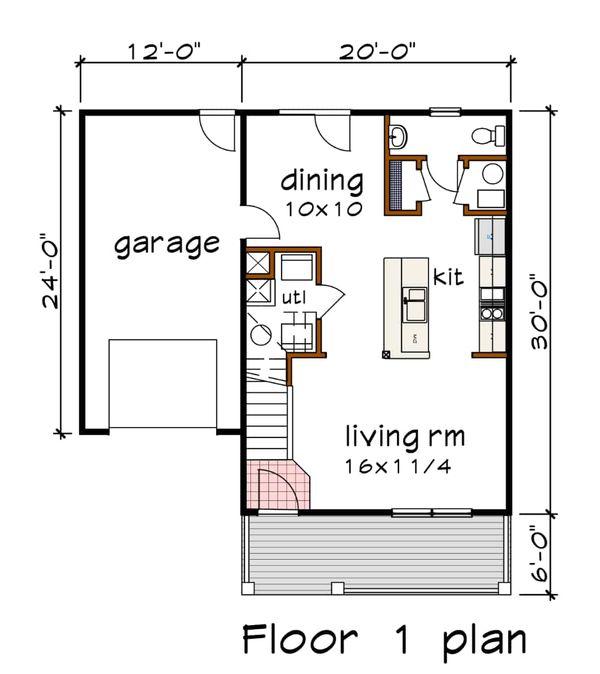 Country Floor Plan - Main Floor Plan Plan #79-271