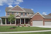 Craftsman Style House Plan - 4 Beds 2.5 Baths 2715 Sq/Ft Plan #320-495 Exterior - Front Elevation