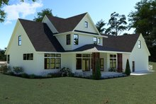 House Plan Design - Farmhouse Exterior - Rear Elevation Plan #1070-36