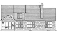 Traditional Exterior - Rear Elevation Plan #46-185