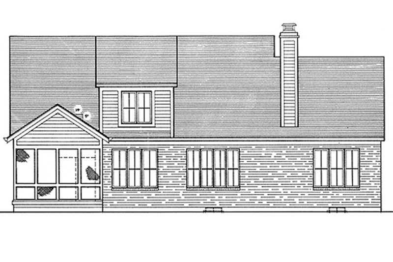 Traditional Exterior - Rear Elevation Plan #46-185 - Houseplans.com